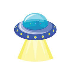 Ufo spaceship icon vector