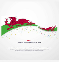 Wales happy independence day background vector