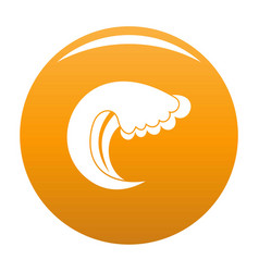 wave water summer icon orange vector image