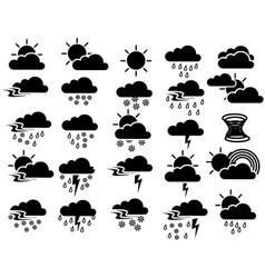 weather sign symbol set vector image
