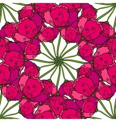decorative poppy flowers seamless pattern vector image