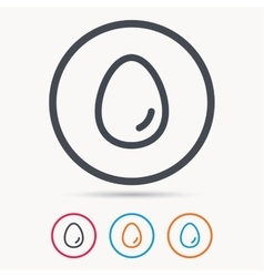 Egg icon breakfast food sign vector