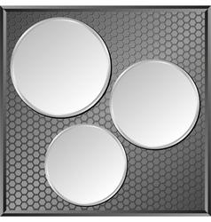 gray panel vector image vector image