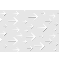 Grey abstract tech paper arrows background vector image vector image