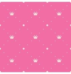 Princess pink background vector image