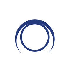 abstract circle element logo image vector image vector image