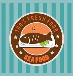 food design over blue background vector image