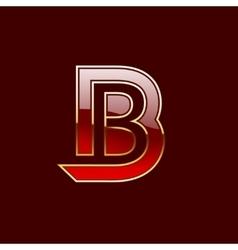 Gold Letter B Shape Logo Element vector image vector image