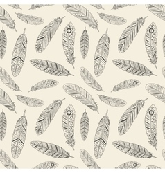 Hand-drawn Feather Texture vector image