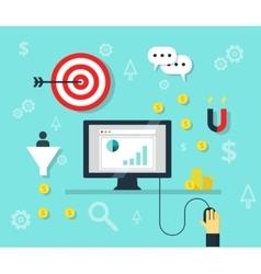 Online marketing concept internet bisiness and vector