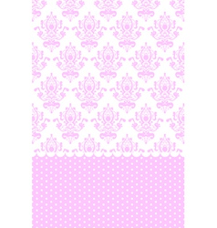 pink and white wallpaper vector image vector image