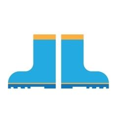 rain boots flat icon vector image