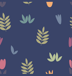 stylized floral elements for design vector image vector image