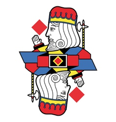 Stylized King of Diamonds no card vector image vector image