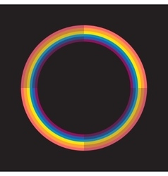 Abstract rainbow color circle with light and dark vector image