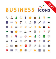 business universal icons vector image vector image