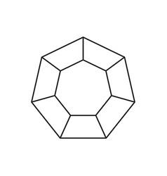 hexagon infographic icon vector image