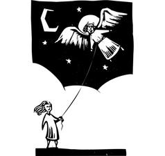 Kite Angel vector image vector image