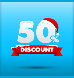 027 Merry Christmas sale 50 percent web tag banner vector image vector image