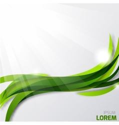 Abstract wavy green background vector image