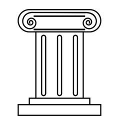 Roman pillar icon outline style vector image