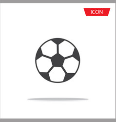 soccer ball icon football icon vector image vector image
