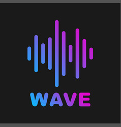 sound wave logotype of sound and music vector image