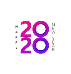 2020 new year insta style banner template vector image