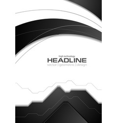 Abstract black white corporate flyer vector