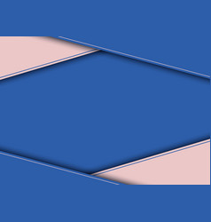 abstract modern template blue and pink triangle vector image
