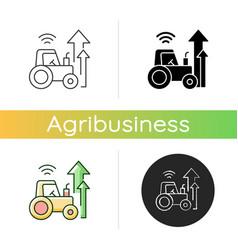 Agricultural modernization icon vector