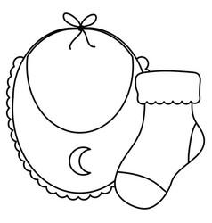 Babib clothes with sock vector