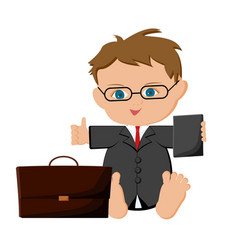 Baby boy businessman vector
