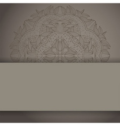 Background with lace circle hand drawn ornament vector