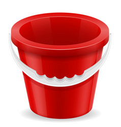 Beach red bucket childrens toy for sand stock vector