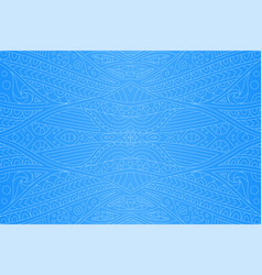 beautiful art with blue seamless abstract pattern vector image