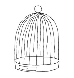 black birds cage isolated on white background vector image