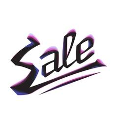 burning lettering sale vector image