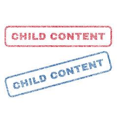 Child content textile stamps vector