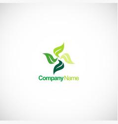 circle green leaf beauty spa logo vector image