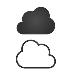 Clouds icons black flat design and linear vector