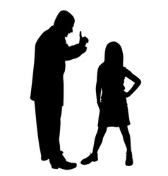 Conflict between father and defiant child vector