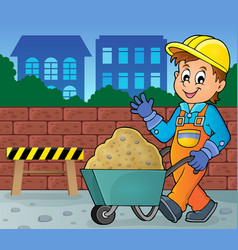 construction worker theme image 2 vector image