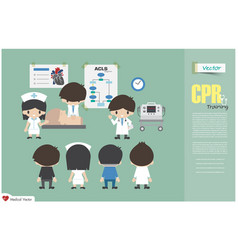 cpr training medical team vector image