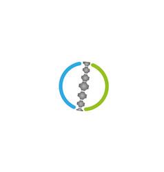 Creative circle spine logo vector