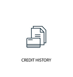 credit history concept line icon simple element vector image