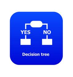 Decision tree icon blue vector