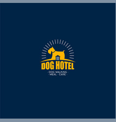 dog hotel logo vector image