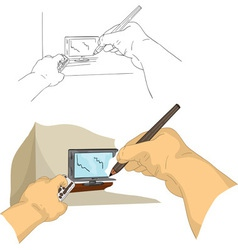 Drawing TV vector