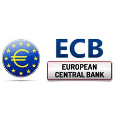 ecb - european central bank vector image